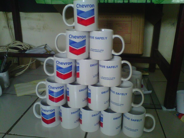 Pesanan Mug Cetak Promosi Chevron