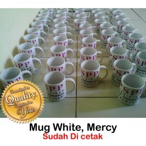 Mug Super white mercy sudah cetak