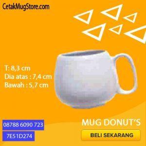 Souvenir Mug Donat Decal Unik