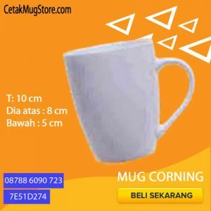 Souvenir Mug Corning Decal Murah