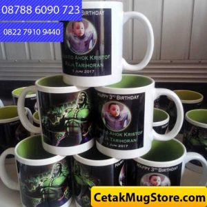 Mug Souvenir Ulang Tahun Tema Superhero Hulk (3)