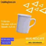 Souvenir Mug Nescafe Decal Murah